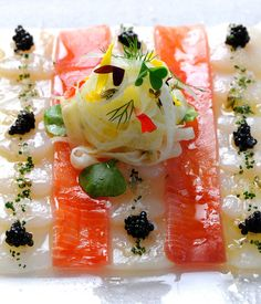 The presentation of this ceviche recipe from Gary Jones