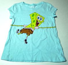 Sponge Bob Square Pants   Cute Tee for School!  Size 6  $0.99 Back to School Auction  BlingBlinky.com