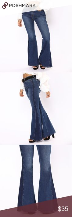 Fashion Nova Plus Size Bell Bottom Jeans on size chart = size in jeans Extra flare and super Bell Bottom Pants, Bell Bottoms, Fashion Nova Website, Fashion Nova Plus Size, Nova Jeans, Fashion Tips, Fashion Design, Fashion Trends, Stretch Denim