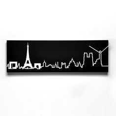 Paris Skyline Black