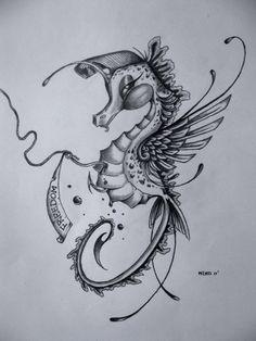 seahorse tattoo - Buscar con Google