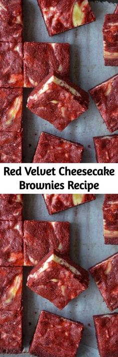 Red Velvet Cheesecake Brownies Recipe - These brownies are the most requested dessert for family gatherings! I've repeatedly shared the r - The Cheesecake Factory, Homemade Cheesecake, Cheesecake Recipes, Breakfast Recipes, Dessert Recipes, Dinner Recipes, Gourmet Desserts, Red Velvet Cheesecake Brownies, Cupcakes