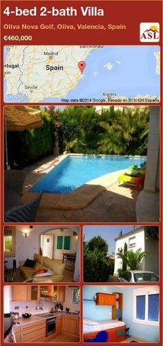 4-bed 2-bath Villa in Oliva Nova Golf, Oliva, Valencia, Spain ►€460,000 #PropertyForSaleInSpain