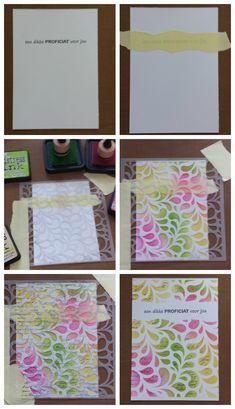 Simple masking can be very effective. Card Making Tips, Card Making Techniques, Paper Cards, Diy Cards, Druckfarben Im Distress-look, Distress Ink Techniques, Marianne Design, Quick Cards, Card Tutorials