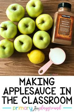 Making Applesauce In The Classroom - Primary Playground Fall Preschool, Preschool Classroom, Kindergarten Activities, Future Classroom, Preschool Apples, Classroom Ideas, Preschool Cooking Activities, Apple Theme Classroom, Kindergarten Apples