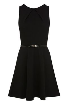 This pique belted dress is constructed out of a textured fabric. This skater style dress features a fitted bodice to the waist with a round neck and pleated detail at the front and a scoop back with zip placket. The skirt is full and flared and features an optional skinny black belt that is worn at the waist for definition. This piece looks great dressed up for a night out.  View Here: http://www.warehouse.co.uk/pique%20belted%20dress/all/Warehouse/fcp-product/4543083377#USBIvtIrJWvSG8zi.99