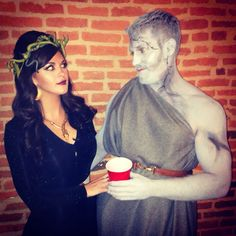 Medusa and the Stone Man #Halloween #CouplesCostumes #Costumes