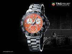TAG Heuer Formula 1 Chronograph Orange Dial Watch (Fondos de Escritorio)