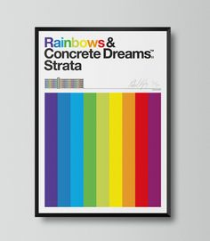 Limited Edition Strata Print by Patrick Murphy. Available in two sizes x and x Patrick Murphy, Limited Edition Prints, Tech Logos, Rainbow, Chart, Rain Bow, Rainbows