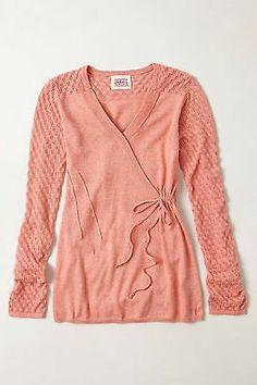 Anthropologie by Rosie Neira Texture Twist Pullover Sweater XL Pink 88 | eBay