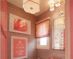 Elle Decor SF Design house girls bathroom via la dolce vita Girl Bathroom Decor, Cute Bathroom Ideas, Bathroom Kids, Bathroom Inspiration, Small Bathroom, Bathroom Vanity Designs, Colorful Bathroom, Bathroom Interior, Modern Bathroom