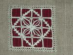 Reticello Embroidery Cushion Detail