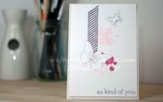 Handmade card stamping up gorgeous grunge and butterflie
