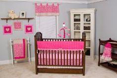 Amazon.com: Pam Grace Creations Tabby Cheetah 10 Piece Baby Crib Bedding Set: Baby