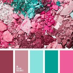 Colors - the blue isn't quite right Raspberry, Mauve/Dusty Rose, and Ice Blue/Ocean Blue