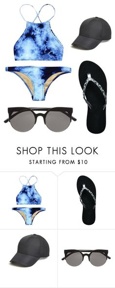 """""""Untitled #232"""" by daniellass on Polyvore featuring Reef, August Hat, women's clothing, women, female, woman, misses, juniors, sunglasses and MyStyle"""