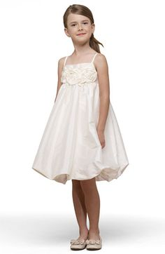 Us Angels Taffeta Rosette Bubble Dress (Toddler, Little Girls & Big Girls) available at #Nordstrom