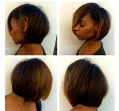 Bob African American hair color highlights