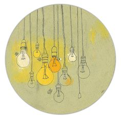 light bulbs illustration