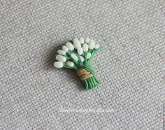 Купить Тюльпаны. Брошь - тюльпаны, брошь тюльпаны, цветы, цветы из полимерной глины