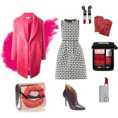 """Sunday Outfit"" by workingincloset on Polyvore #style  #pinkcoat #coat #pink #red #lips #lipstick #red #dior #bag #shoes #outfit #look #fashion #workingincloset #mystyle #fashionblogger #blogger"