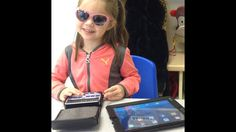When should you introduce the iPad and its accessibility features to a blind child? I don't think it's ever too early!