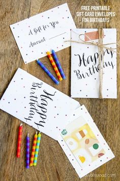 Free Printable Birthday Gift Card Envelopes - Yellow Bliss Road
