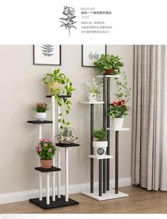 Balcony decoration flower shelf multi storey indoor special living room home cymbidium bonsai frame space space rack Tall Plant Stand Indoor, Diy Plant Stand, Tall Plant Stands, Stand Tall, Garden Shelves, Plant Shelves, House Plants Decor, Plant Decor, Living Room Plants
