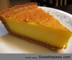 Egg Custard Pie Recipe..3 eggs 2 cups milk 2/3 cup sugar 2 tablespoons butter 1 pinch salt 1 teaspoon vanilla 1 unbaked pie shell Directions: 1 Beat eggs well. 2 Heat milk and butter to just before boiling. 3 Add the milk mixture to sugar, butter, salt and vanilla. 4 Add the eggs. 5 Pour into unbaked shell. 6 Bake at 350 degrees until top is a golden brown color.