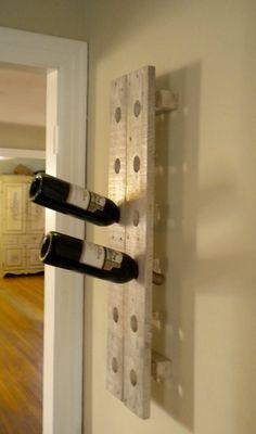 Dyi Wine Rack, Rustic Wine Racks, Unique Home Decor, Home Decor Items, Riddling Rack, Pallet Wine, Diy Pallet Projects, Wine Storage, Wood Pallets