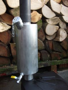 Stove flue kettle