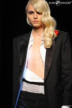 Androgyny. Male model Andrej Pejic.