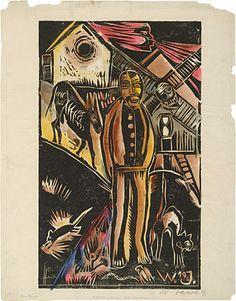 The Peasant, 1919, Walter Jacob, MoMA | German Expressionism Themes: Primitivism