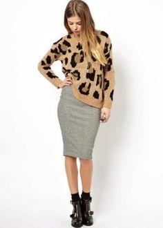 Трикотажная юбка-карандаш (70 фото): с чем носить, на резинке, с завышенной талией, в полоску