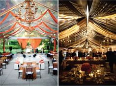 Image result for wedding tent draping ideas