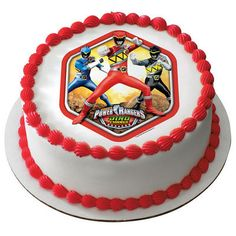 Power Rangers Dino Charge Edible Cake or by SweetCakesForYou