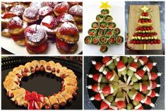 Smakelijke hapjes kerstdiner Christmas Snacks, Christmas Themes, Merry Christmas, Tapas, Brunch, Food Gifts, Meat Recipes, Baking, Breakfast