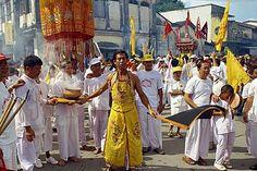 Procession of the Vegetarian Festival, Phuket, Thailand, Southeast Asia, Aisa