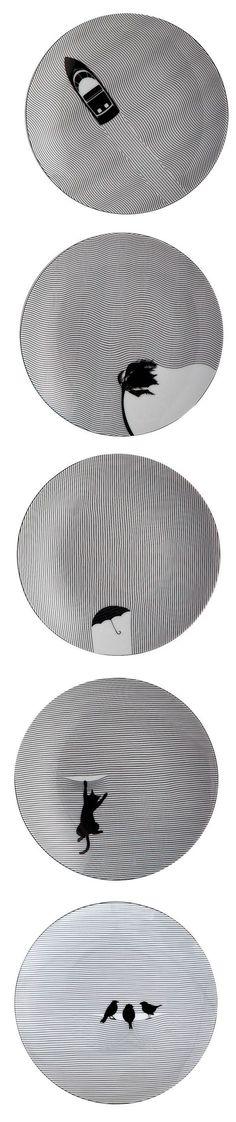 Cheeky Home, basée aux États-Unis, conçoit de la vaisselle à la fois en papier et en porcelaine dans le but de moderniser l'art de la table et réunir à nou
