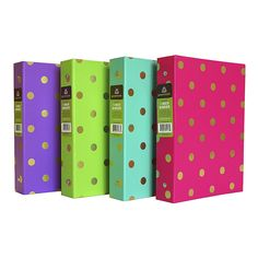 Greenroom 1in Mini Gold Accent Ring Binder : Target