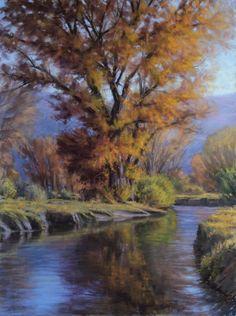 Across The Creek 24x18 Pastel, painting by artist Joe Mancuso