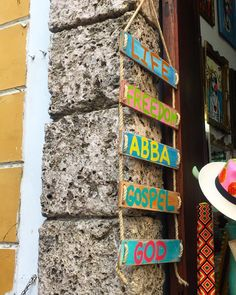 Cool folk art sign... Life Freedom Abba Gospel God . . . . . . . . . . #cartagena #travel #traveling #wanderlust #travels #colombia #tourist #tourism #love #instagood #fun #colombia #southamerica #oldcity #photooftheday #travelers #vacation #summer #traveltips #instamood #love #instagood #traveldiary #mylife #art