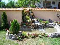 Adorable Garden Decor and Landscaping Designs: Whether it is your front yard or backyard, garden Decor and Landscaping is nothing like an ordinary decor. Garden Pond Design, Garden Art, Landscape Design, Diy Garden Fountains, Pond Fountains, Indoor Waterfall, Garden Waterfall, Backyard Water Feature, Ponds Backyard