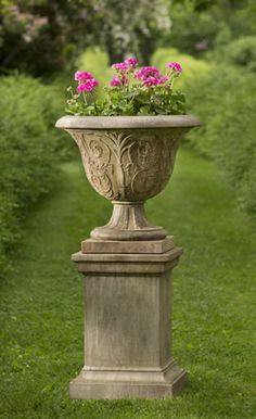 Campania International Cast Stone Classic Tall Pedestal | Cast Stone And  Products