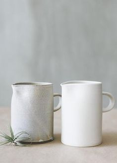 Notary Ceramics - Simple Pitcher in White or Satin Grey