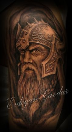 viking warrior tattoo by ErdoganCavdar Schulterpanzer Tattoo, Norse Tattoo, Tattoo Motive, Celtic Tattoos, Samoan Tattoo, Polynesian Tattoos, Viking Tattoos For Men, Viking Warrior Tattoos, Badass Tattoos