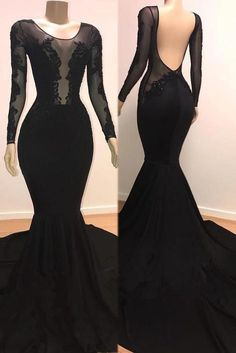 Long Sleeves Black Mermaid Evening Dress from modsele sexy black long prom dress with long sleeves, 2019 mermaid long prom dress with train sexy black long prom dress with long sleeves, 2019 mermaid long prom dress with train Prom Girl Dresses, Prom Dresses Long With Sleeves, Mermaid Evening Dresses, Black Wedding Dresses, Homecoming Dresses, Sexy Dresses, Fashion Dresses, Dress Outfits, Formal Dresses