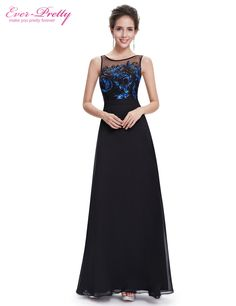 f1a0124f0ca3  Clearance Sale  Ever Pretty Evening Dresses HE08678BK Women Beautiful  Elegant Round Neck Long Black Party Evening Dresses 2017-in Evening Dresses  from ...