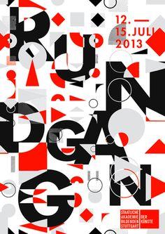 Rundgang 2013 an der AbK Stuttgart | Gestaltung: Nadine Fuchs und Lea Schmidt