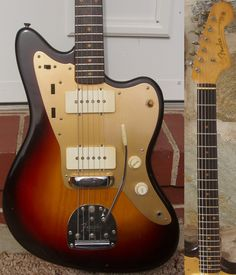 Fender announced the Jazzmaster at the 1958 NAMM show as a high-end jazz guitar with an array of innovative features and sleek sports-car inspired curves. Gretsch, Fender Telecaster, Fender Guitars, Jazzmaster, Guitar Shop, Jazz Guitar, Cool Guitar, Fender Electric Guitar, Archtop Guitar